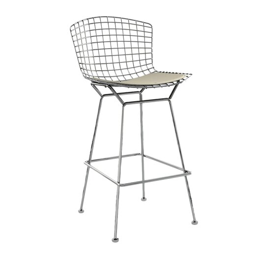"""Knoll ® Bertoia 27.5"""" Counter Stool with Seat Pad"""