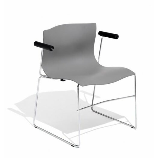 Knoll ® Handkerchief Stacking Arm Chair with Seat Pad