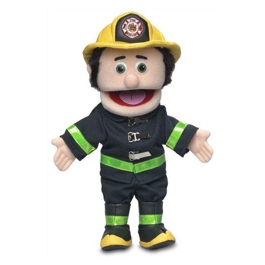 """Silly Puppets 14"""" Caucasian Fireman Glove Puppet"""