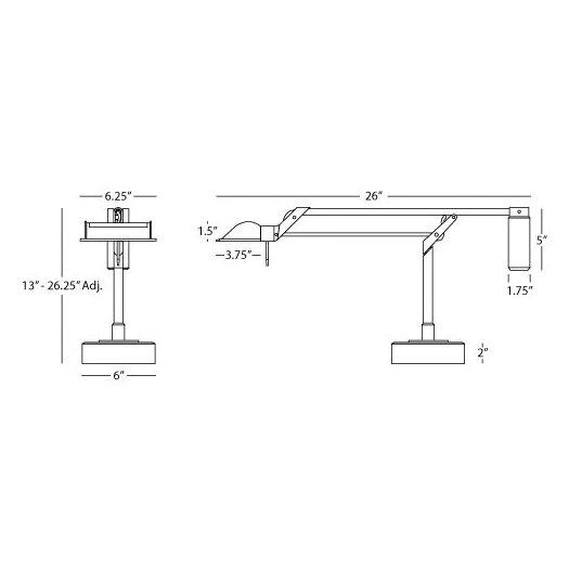 "Robert Abbey Task Adjustable 13"" H Table Lamp"