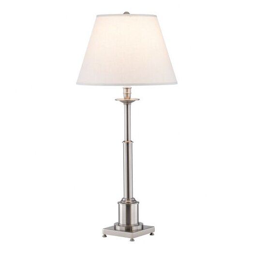 "Robert Abbey Kinetic Column 31.25"" H Table Lamp with Empire Shade"