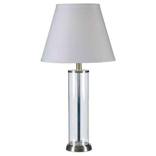 """Robert Abbey Andre Round Base 28.75"""" H Table Lamp with Empire Shade"""