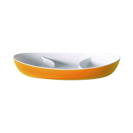 Omada Trendy Hors D'Oeuvre Oval Divided Serving Dish