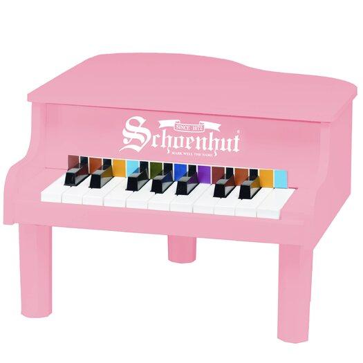 Schoenhut Mini Grand Piano in Pink