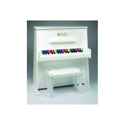 Schoenhut Day Care Durable Upright Piano in White