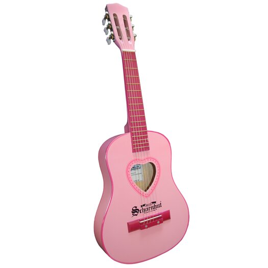 Schoenhut Six Metal String Guitar in Pink