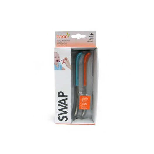 Boon 2 in 1 Asst Swap Dual Ended Feeding Spoons in Tangerine