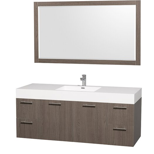 """Wyndham Collection Amare 60"""" Vanity Set with Single Sink"""