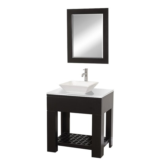 "Wyndham Collection Zen II 30"" Single Bathroom Vanity Set with Mirror"