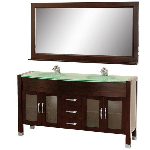 """Wyndham Collection Daytona 63"""" Bathroom Vanity Set with Double Sink"""