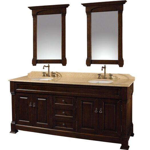 "Wyndham Collection Andover 72"" Double Bathroom Vanity Set"