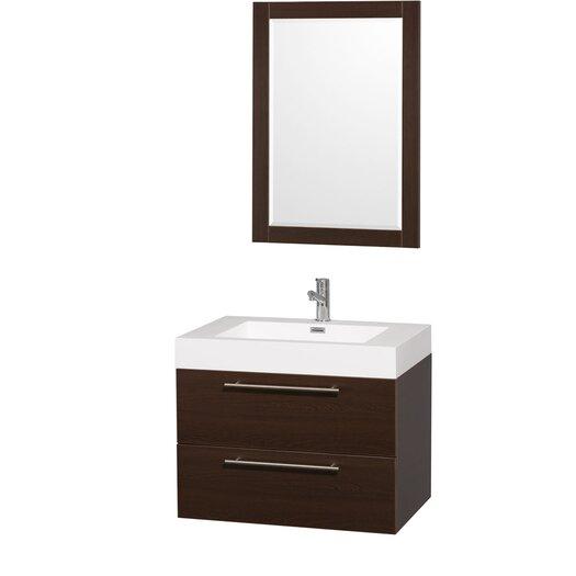 "Wyndham Collection Amare 29"" Single Bathroom Vanity Set with Mirror"