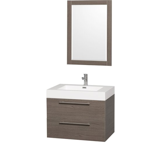 "Wyndham Collection Amare 29"" Single Bathroom Vanity Set with Mirror"