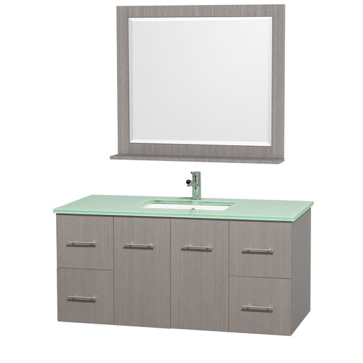 """Wyndham Collection Centra 48"""" Bathroom Vanity Set with Single Sink"""