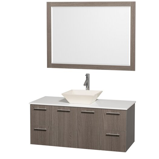 "Wyndham Collection Amare 48"" Single Bathroom Vanity Set"