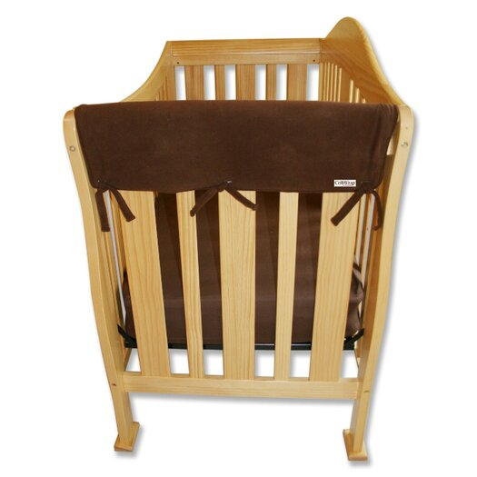 """Trend Lab 2 Pack of 27"""" Brown Fleece Side Crib Rail Cover"""