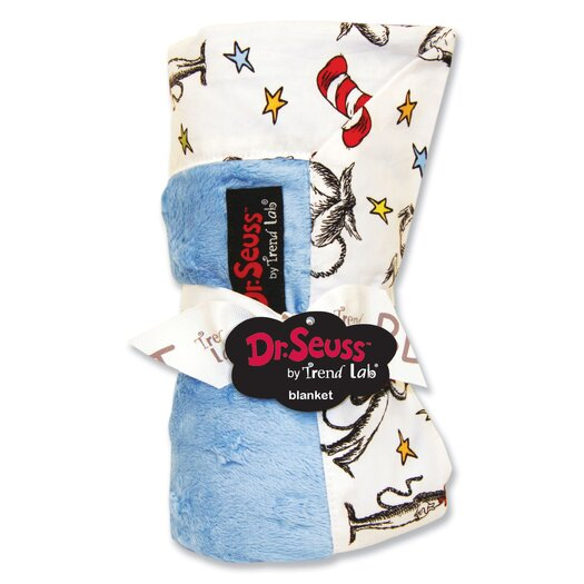 Trend Lab Dr. Seuss Cat in the Hat Receiving Blanket in Blue