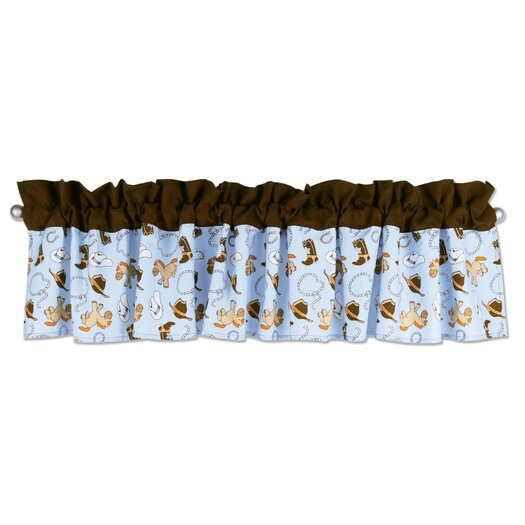 "Trend Lab Cowboy Rod Pocket Ruffled 82"" Curtain Valance"