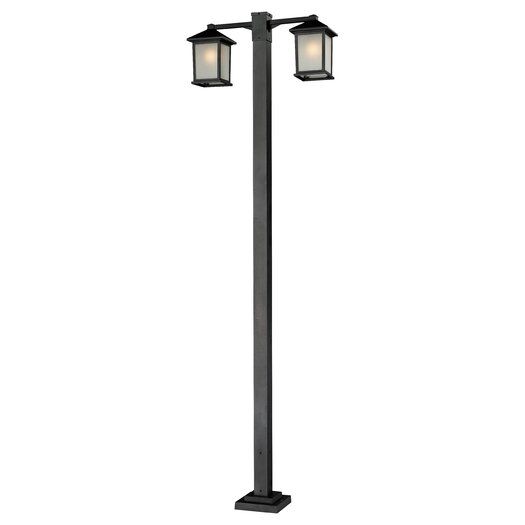 "Z-Lite Holbrook 2 Light 99"" Outdoor Post Lantern Set"