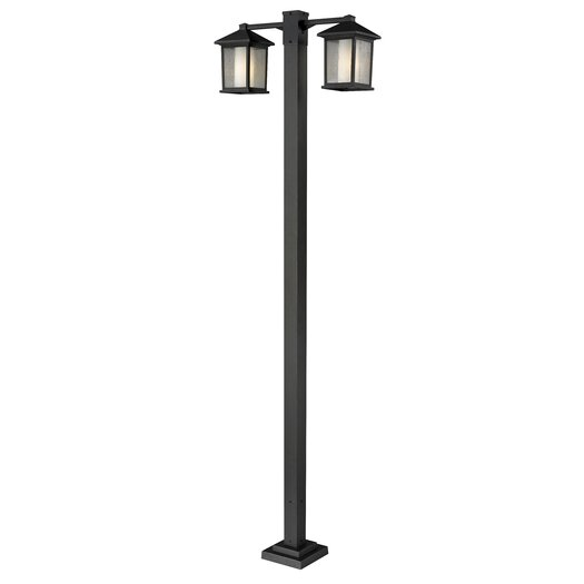 "Z-Lite Mesa 2 Light 99"" Outdoor Post Lantern Set"