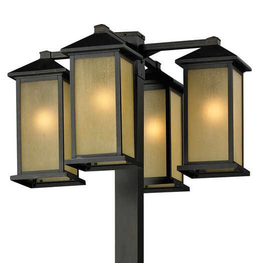 "Z-Lite Vienna 4 Light 99"" Outdoor Post Lantern Set"