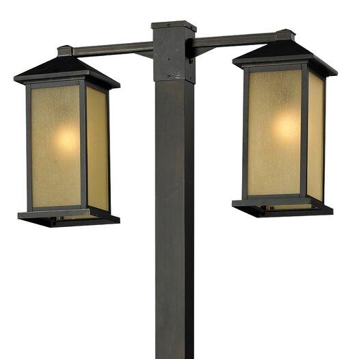 """Z-Lite Vienna 2 Light 99"""" Outdoor Post Lantern Set"""
