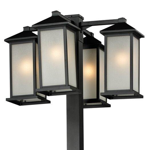 """Z-Lite Vienna 4 Light 99"""" Outdoor Post Lantern Set"""