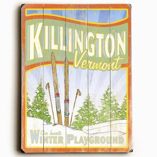 Artehouse LLC Killington - Winter Playground Vintage Advertisement Plaque