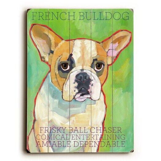 Artehouse LLC French Bulldog Wood Sign