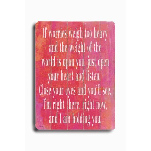 Artehouse LLC If Worries Weigh Too Heavy #1 Textual Art Plaque