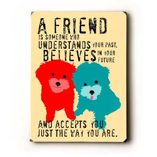 Artehouse LLC A Friend Textual Art Plaque