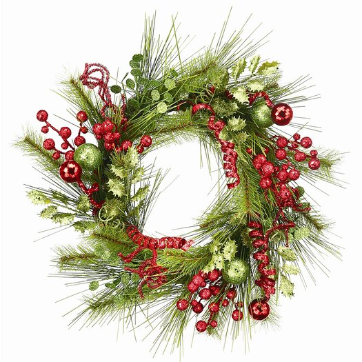 Regency International Tinsel and Pine Wreath