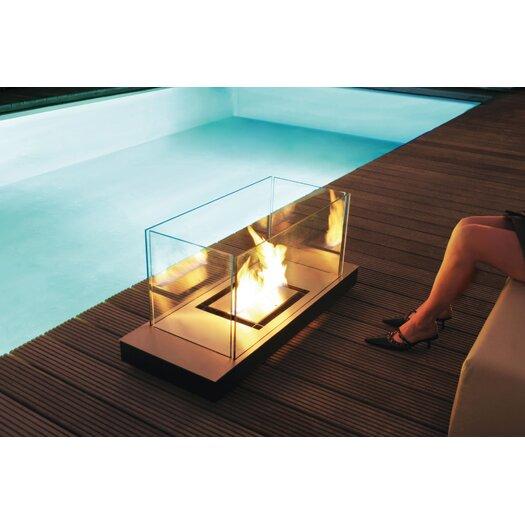 Radius Design Matte Black Uni-Flame Ethanol Fireplace