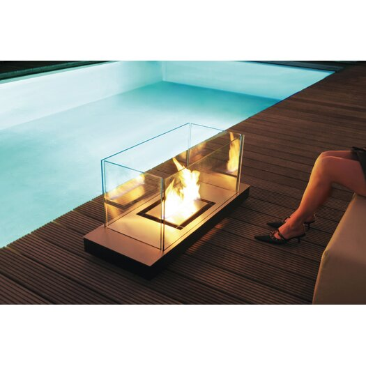 Radius Design Matte Black Uni-Flame Ethanol Fireplace