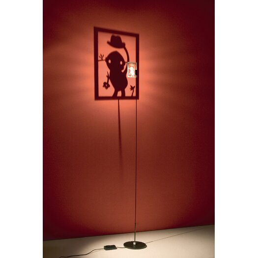 Absolut Lighting Shining Image Floor Lamp- Man with Hat Wall