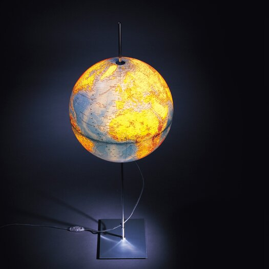 """Absolut Lighting Globe Earth English Lettering 35.5"""" Table Lamp"""