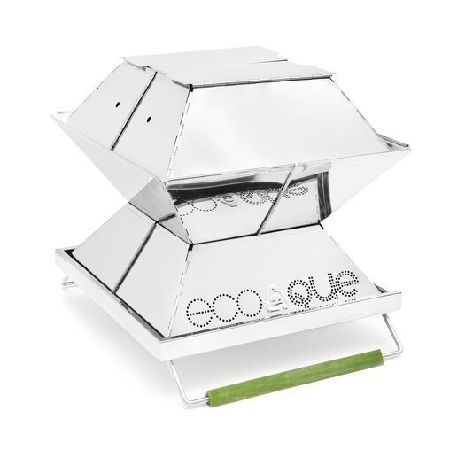 """EcoQue Portable 12"""" Stainless Steel Grill"""