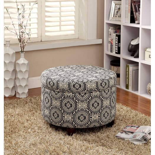Kinfine Fashion Storage Medallion Suzani Ottoman