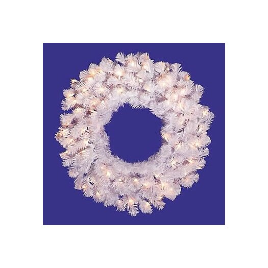 Vickerman Co. Pre-Lit Crystal Wreath with Clear Lights