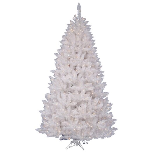 Vickerman Co. White Spruce 6.5' Artificial Christmas Tree with 360 LED White Lights