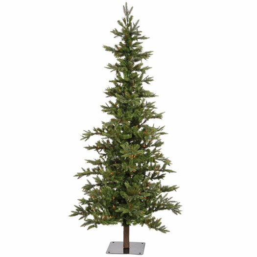 Vickerman Co. Shawnee Fir 6' Green Alpine Artificial Christmas Tree with 250 Multicolored Lights with Stand