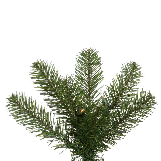 Vickerman Co. Salem Pencil Pine 7.5' Green Artificial Christmas Tree with 270 Warm White LED Lights with Stand