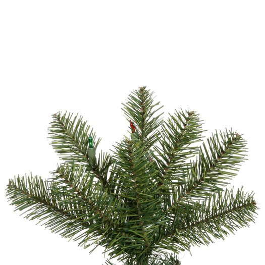 Vickerman Co. Salem Pencil Pine 7.5' Green Artificial Christmas Tree with 275 Multicolored LED Lights with Stand