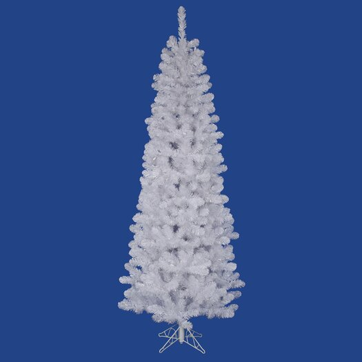 Vickerman Co. White Salem Pencil Pine 5.5' Artificial Christmas Tree with Stand