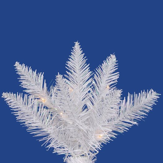 Vickerman Co. Crystal White Spruce 9.5' Artificial Christmas Tree with 1050 Clear Lights with Stand