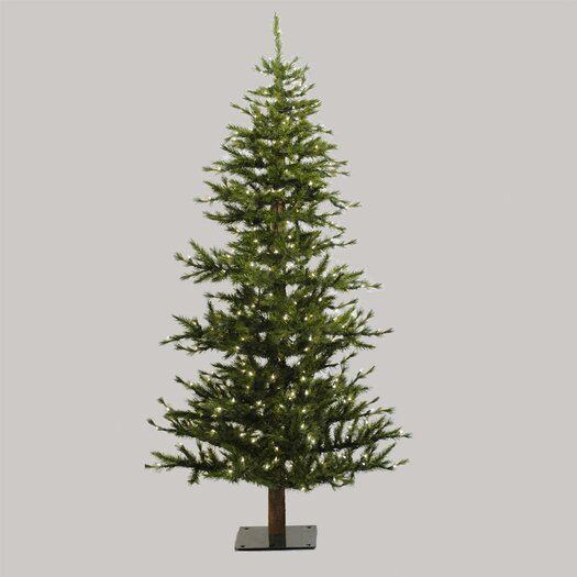 Vickerman Co. Minnesota Pine 7' Green Artificial Half Christmas Tree with Stand