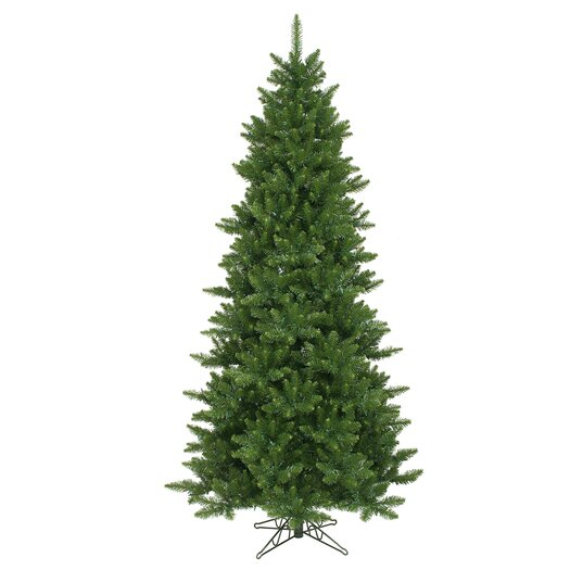 Vickerman Co. Camdon Fir 8.5' Green Artificial Slim Christmas Tree with Stand