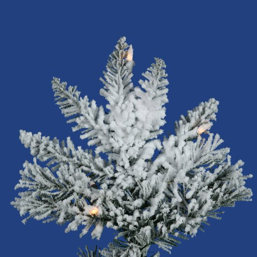 Vickerman Co. Flocked Utica Fir 6.5' White Artificial Christmas Tree with Stand