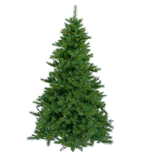 Vickerman Co. Glacier Mixed Pine 7.5' Green Artificial Christmas Tree with 500 LED Warm White Lights with Stand