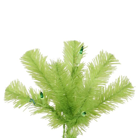 Vickerman Co. Chartreuse Pencil 7.5' Green Artificial Christmas Tree with 400 Green Lights